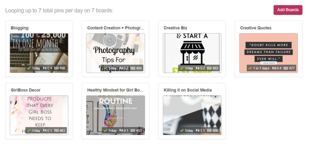 Pinterest looping automate traffic