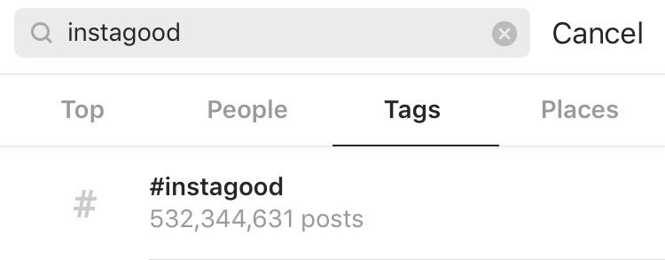 huge popular hashtags #instagood