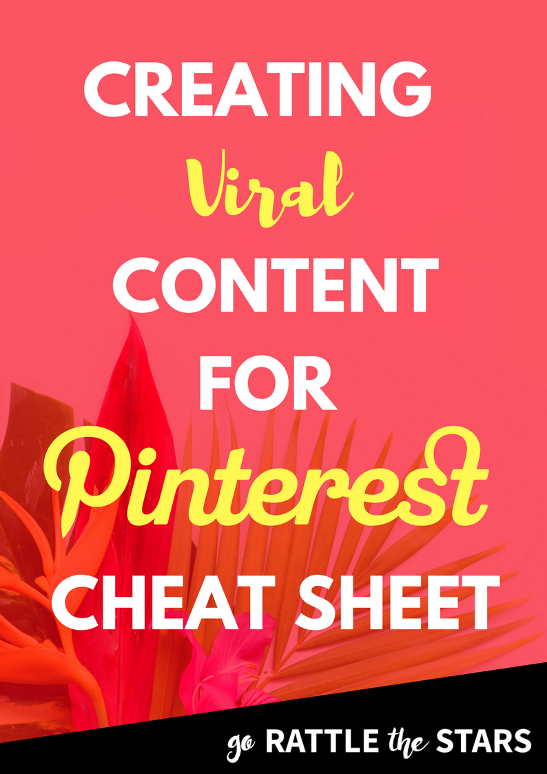 Viral Pins for Pinterest Cheat Sheet