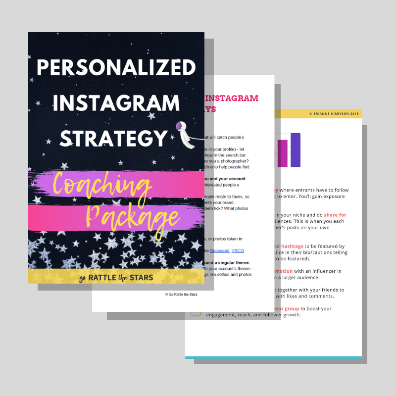 Personalized Instagram Coaching Package